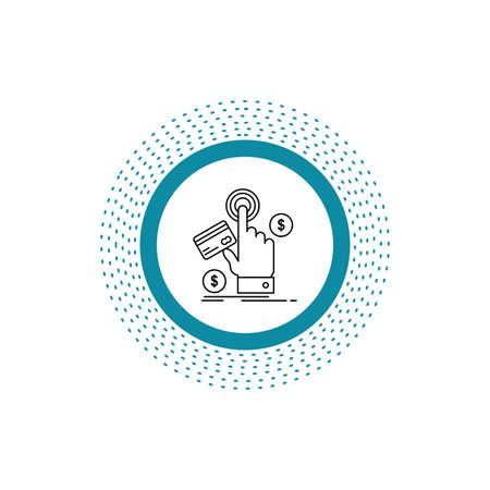 ppc, Click, pay, payment, web Line Icon. Vector isolated illustration Illusztráció