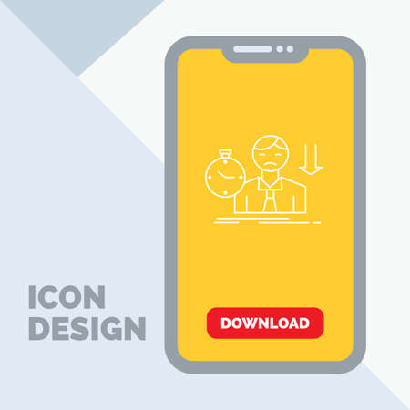 failure, fail, sad, depression, time Line Icon in Mobile for Download Page