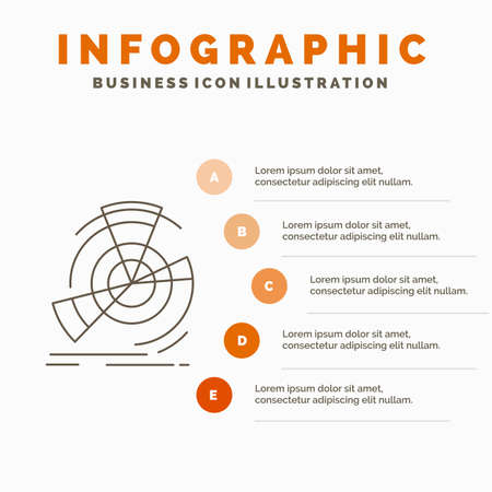 Data, diagram, performance, point, reference Infographics Template for Website and Presentation. Line Gray icon with Orange infographic style vector illustration