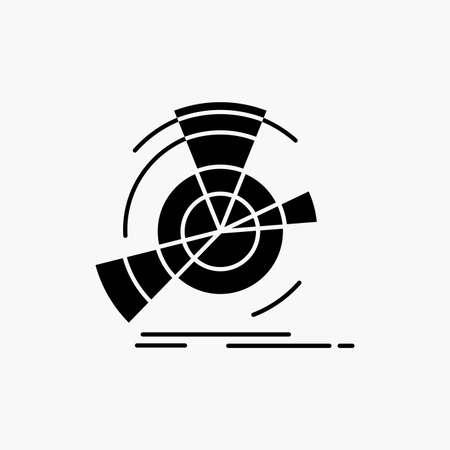 Data, diagram, performance, point, reference Glyph Icon. Vector isolated illustration Ilustração Vetorial