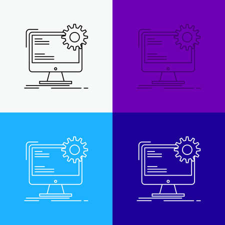 Internet, layout, page, site, static Icon Over Various Background. Line style design, designed for web and app. vector illustration