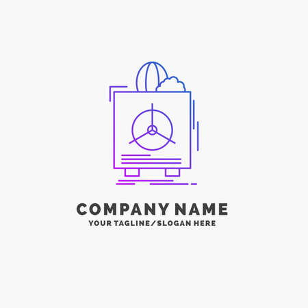 insurance, Fragile, product, warranty, health Purple Business Logo Template. Place for Tagline
