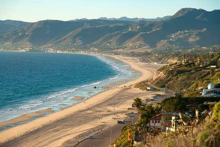 zuma: Beautiful view on Point Dume Beach Malibu California