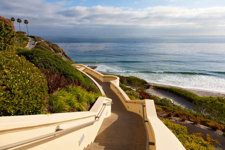 Stairs down to the ocean in Dana Point, California Stock fotó