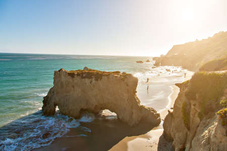 zuma: Beautiful and romantic El Matador State Beach in Malibu, Southern California