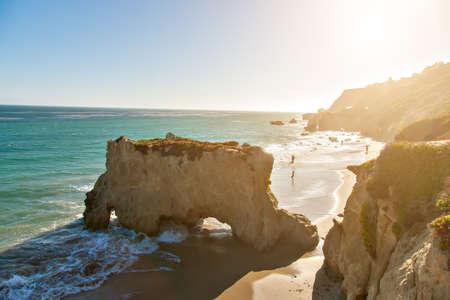 zuma: Beautiful and romantic El Matador State Beach in Malibu, Southern California