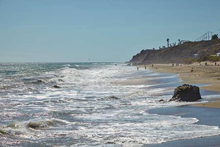 shores: Californian coastal shores : Malibu beaches Summer Stock Photo