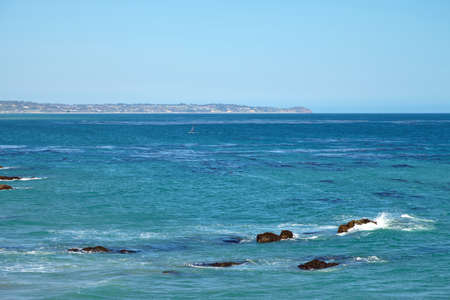 choppy: Windsurfing on a very choppy sea in Southern California Malibu