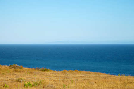 malibu: View from the cliff to the ocean in Malibu California
