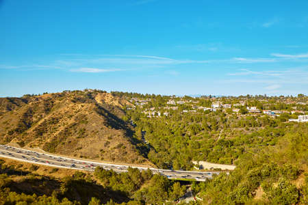 Beautiful views of the 405 freeway Los Angeles California