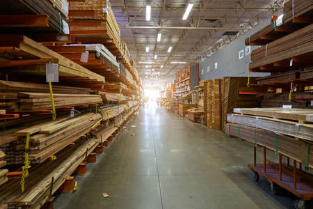 warehouse: Los Angeles, CA, USA - September 13, 2016: A view of a Home Depot store Editorial