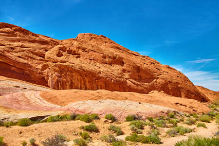 Incredibly beautiful landscape in Southern Nevada, Valley of Fire State Park, USA Stock Photo