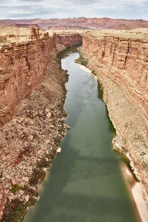 Incredibly beautiful view from Navajo bridige on the Grand Canyon, Arizona, USA