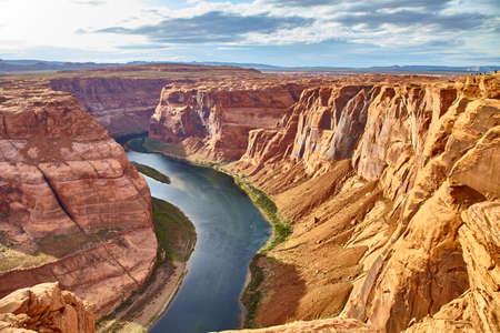 영양 캐년 국립 공원, 미국 애리조나에서 호스 슈 벤드의 엄청나게 아름 다운보기 스톡 콘텐츠