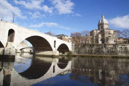 a bridge in Rome photo