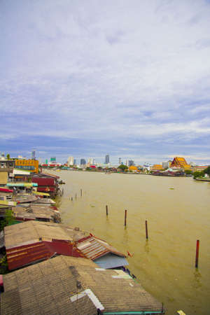 East bank of Jao Praya River Bangkok Thailand photo