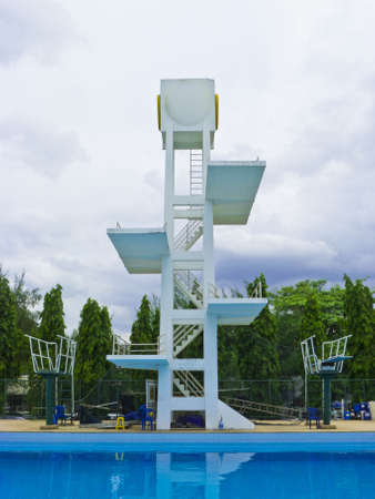 Diving platform Kasetsat University Bangkok Thailand 2012Aug27