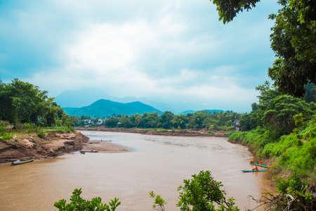 khan: Kan river, LuangPrabang, Laos Oct 03 2012