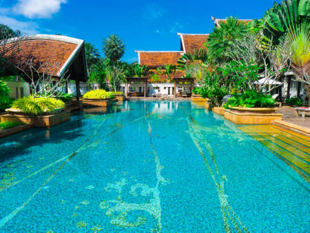 Swimming pool at Mission Hill resort and Golf club Phuket Thailand