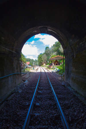the longest train tunnel Chiangmai Thailand December 13   photo