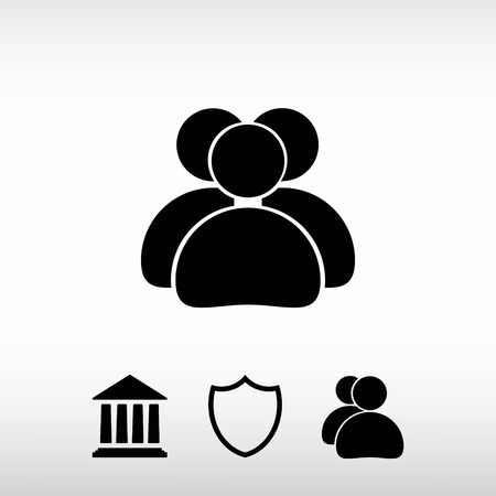 work related: people icon, vector illustration. Flat design style