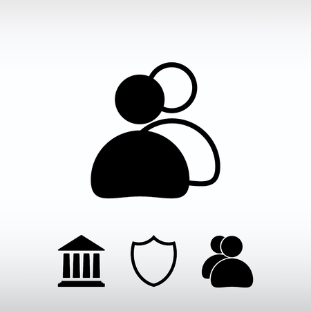 work related: Web icon for the site, in a flat style Illustration