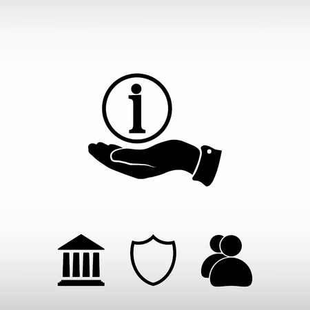 inform information: Information sign icon, vector illustration. Flat design style