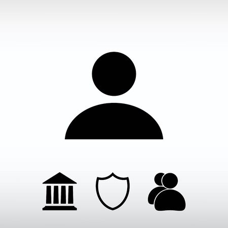 man profile: Business man icon, vector illustration. Flat design style Illustration