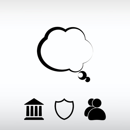 clouds: Web icon for the site, in a flat style Illustration