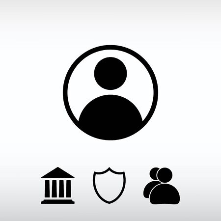man profile: Web icon for the site, in a flat style Illustration