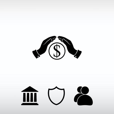 cash money: Save money  icon, vector illustration. Flat design style