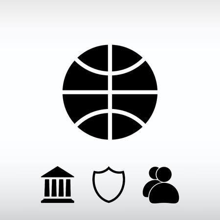 Basketball  icon, vector illustration. Flat design style Ilustrace