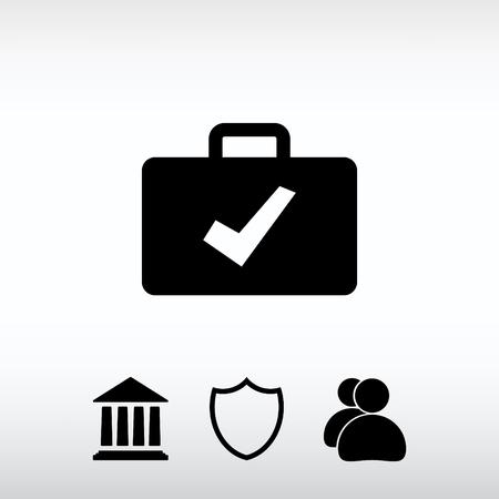 trustworthy: Bag icon, vector illustration. Flat design style