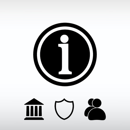 inform information: Web icon for the site, in a flat style Illustration