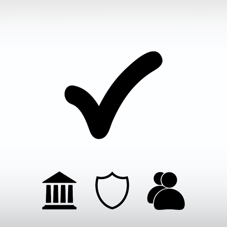 confirm: Confirm icons; vector illustration. Flat design style.