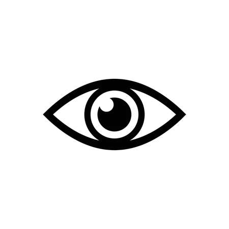 Eye vector icon. Open eye icon, The eye of the beholder. Web design icon. Symbol of the human eye. Vector EPS 10