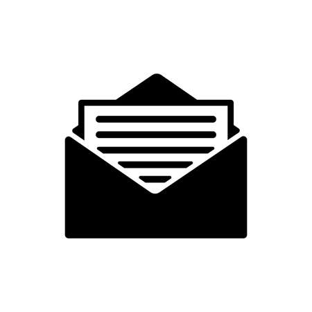 Open mail icon. One of set web icons