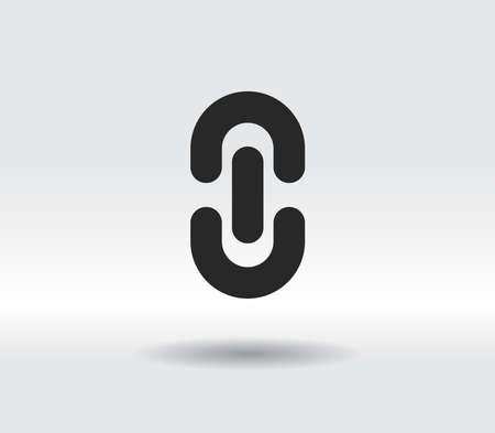 chain link icon, vector illustration. Flat design style 일러스트