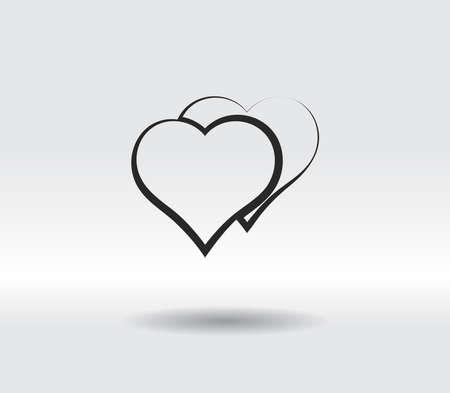 Heart Icon, vector illustration. Flat design style 일러스트