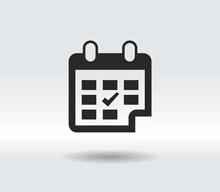Calendar icon, vector illustration. Flat design style 일러스트