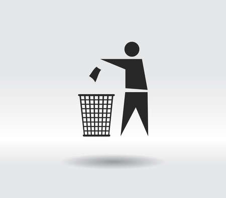 Recycling Sign Label icon, vector illustration. Flat design style