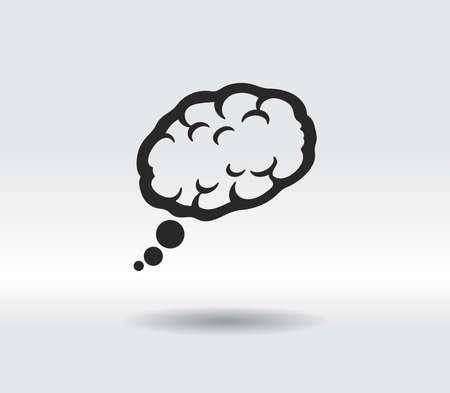 brain icon, vector illustration. Flat design style
