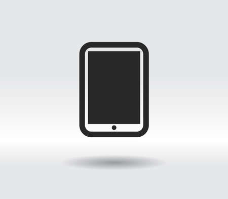 Modern digital tablet PC icon, vector illustration. Flat design style