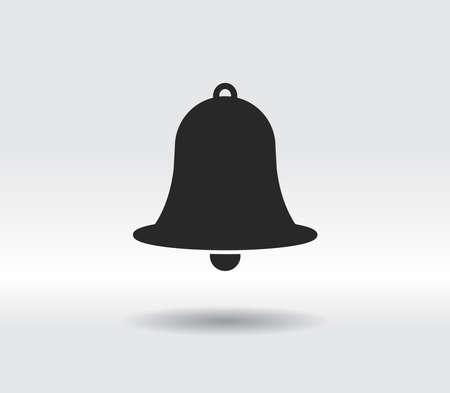 Bell icon, vector illustration. Flat design style 일러스트