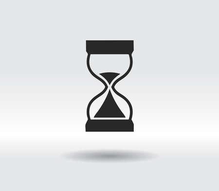 hourglass icon, vector illustration. Flat design style 일러스트