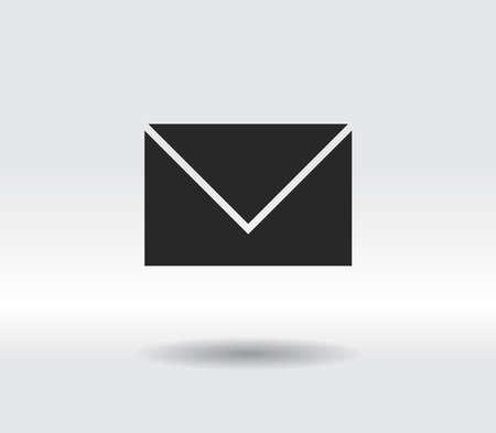 Envelope Mail icon, vector illustration. Flat design style 일러스트