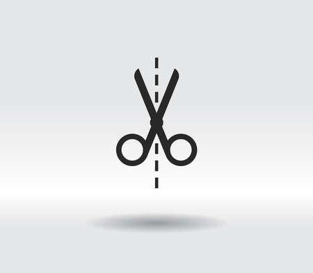Scissors icon vector illustration. Flat design style