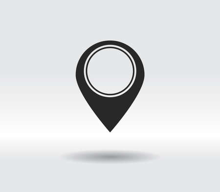 Map pointer flat icon, vector illustration. Flat design style 일러스트