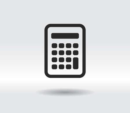 calculator icon, vector illustration. Flat design style 일러스트