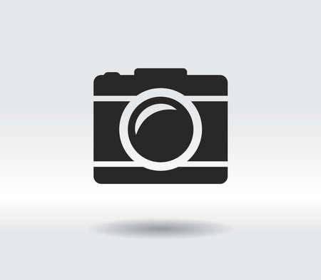 camera icon vector illustration. Flat design style